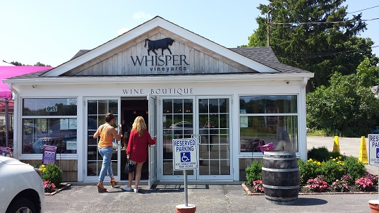 Whipser Vineyards boutique tasting room