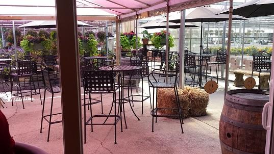 Whisper Vineyards outdoor patio