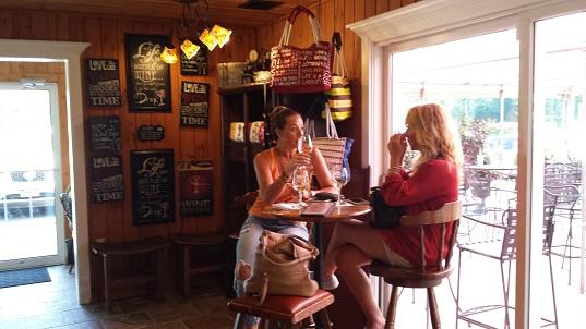 Whisper Vineyards tasting table